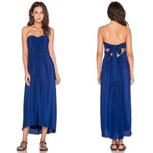 NWT Amanda Uprichard Silk Tie Back Maxi Dress